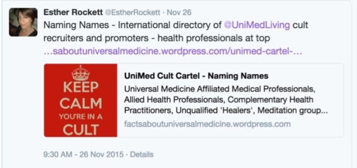 Esther Rockett-Twitter-Naming Names